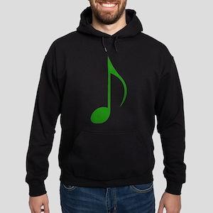Green Eighth Note Hoodie