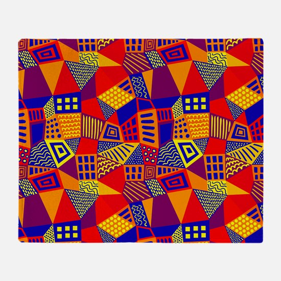 Segmented Abstract 070717 - Colors 0 Throw Blanket
