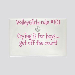 VolleyGirlz rule #101 Rectangle Magnet