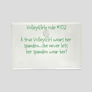 VolleyGirlz rule #102 Rectangle Magnet