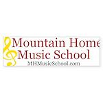 Mountain Home Music School Logo Bumper Sticker