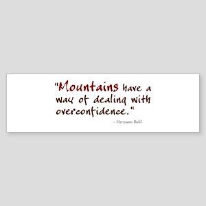 'Mountains' Sticker (Bumper)