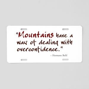 'Mountains' Aluminum License Plate