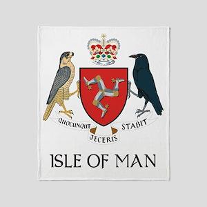 Isle of Man coat of arms Throw Blanket