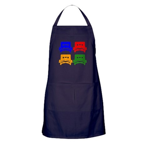 Tape And Crossbones Pop Art Apron (dark)
