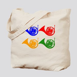 French Horn Pop Art Tote Bag