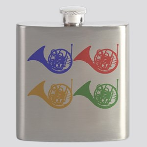 French Horn Pop Art Flask