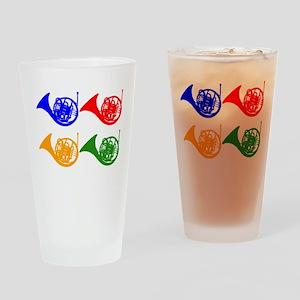 French Horn Pop Art Drinking Glass