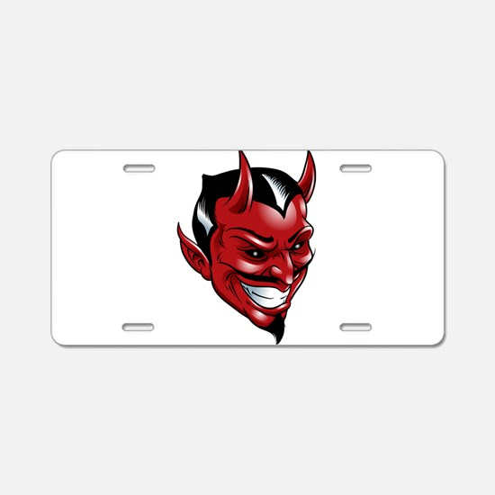 Devil Red Aluminum License Plate