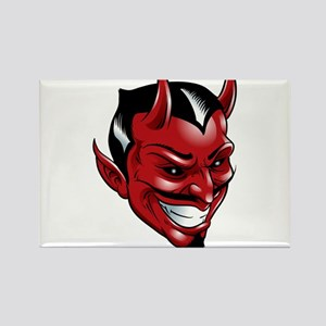 Devil Red Rectangle Magnet