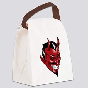 Devil Red Canvas Lunch Bag