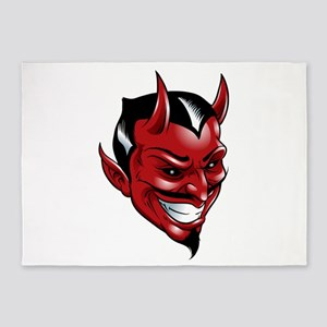 Devil Red 5'x7'Area Rug