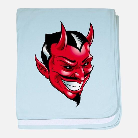 Devil Red baby blanket