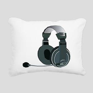 Headphones Rectangular Canvas Pillow