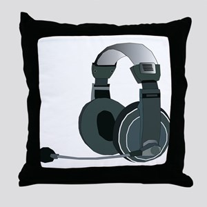 Headphones Throw Pillow