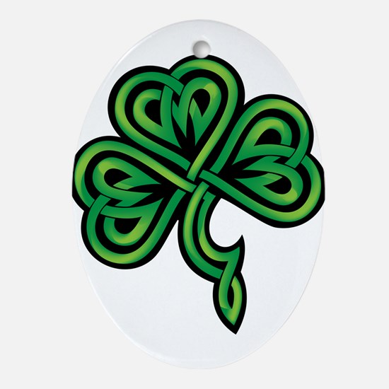 Shamrock Ornament (Oval)