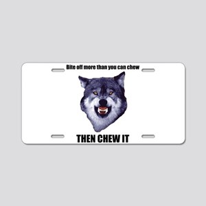 Courage Wolf Aluminum License Plate