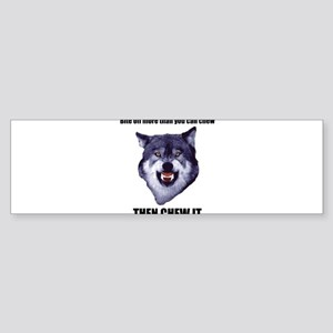 Courage Wolf Bumper Sticker