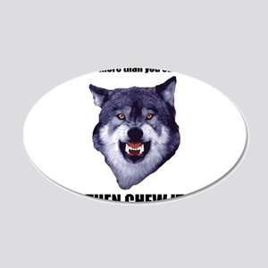 Courage Wolf Wall Decal