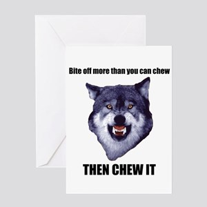Courage Wolf Greeting Card