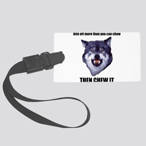Courage Wolf Luggage Tag