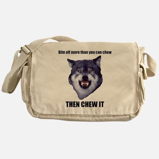 Courage Wolf Messenger Bag