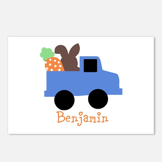 Easter time truck personalized Postcards (Package