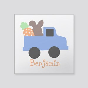Easter time truck personalized Sticker