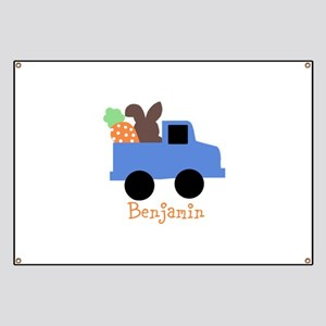 Easter time truck personalized Banner