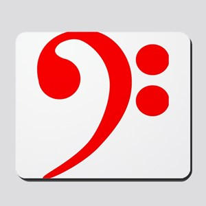 Red Bass Clef Mousepad