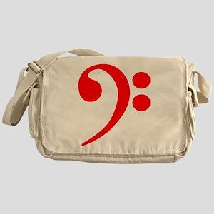Red Bass Clef Messenger Bag