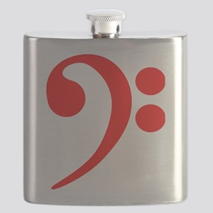 Red Bass Clef Flask