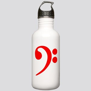 Red Bass Clef Water Bottle