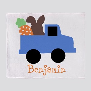 Easter time truck personalized Throw Blanket