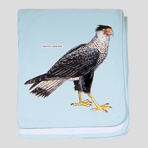 Crested Caracara Bird baby blanket