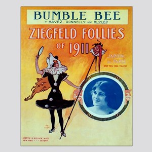 Bumble Bee Vintage Small Poster