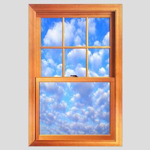 Large Fake Window Poster