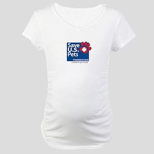 Save U.S. Pets Logo Maternity T-Shirt