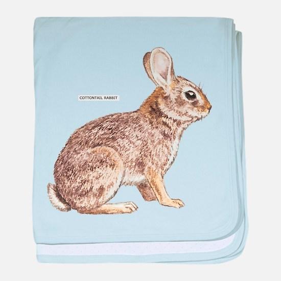 Cottontail Rabbit baby blanket