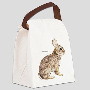 Cottontail Rabbit Canvas Lunch Bag