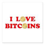 Bitcoins-4 Square Car Magnet 3