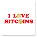 Bitcoins-4 Square Car Magnet 3