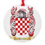 Beecker Round Ornament