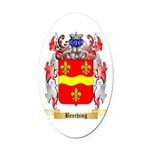 Beeching Oval Car Magnet