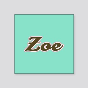 Zoe Aqua Sticker