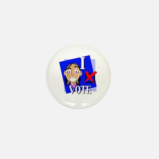 I Vote Mini Button