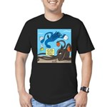 Squid Ball Men's Fitted T-Shirt (dark)