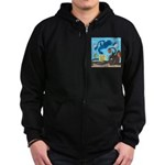 Squid Ball Zip Hoodie (dark)