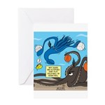 Squid Ball Greeting Card