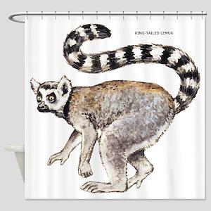 Ring-Tailed Lemur Shower Curtain